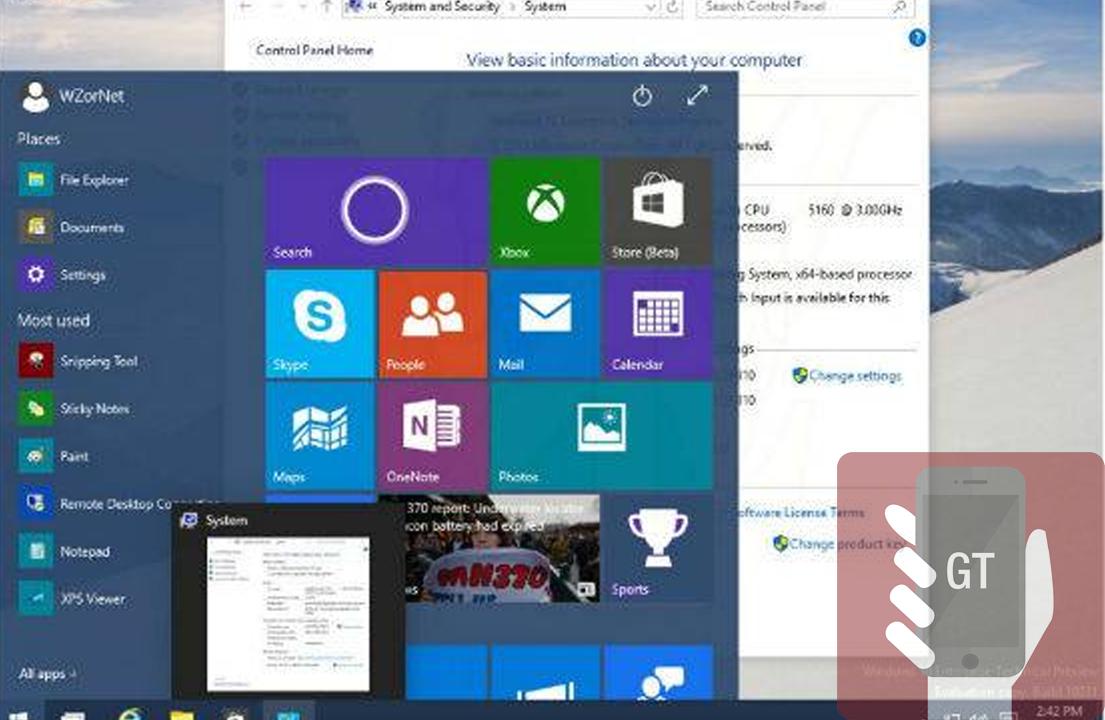 build Windows 10 - GeekTecno