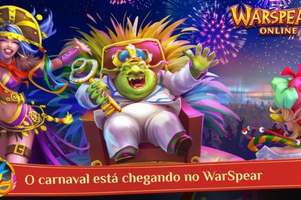 O carnaval já chegou em WarSpear Online